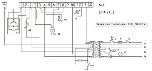 Схемы электросоединений