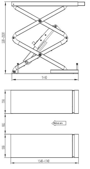 ножничный подъёмник F6105