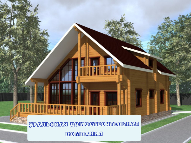 Проект дома из бруса бд68 15 9 x9 5 м2