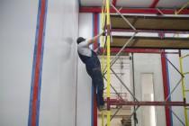 Установка камеры для смешивания и хранения красок