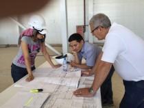 Определение точек подключения для технологического оборудования инженерами SPK GROUP в Астане на Заводе по производству дизельных двигателей для электровозов г. Астана