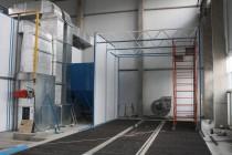 В Миассе командой SPK GROUP производится возведение дробеструйной камеры, которая предназначается для подготовки к окраске автопогрузчиков.