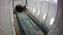 В покрасочной камере в Цехе реконструкции продолжается реставрация вагона-экспоната для Музея истории, науки и техники Свердловской железной дороги.