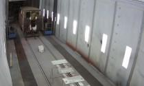 Продолжаются работы по восстановлению железнодорожной музейной техники в покрасочно-сушильной камере SPK