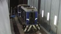 Сегодня в камере для покраски железнодорожного транспорта SPK реставрируется новый музейный экспонат - ретро-локомотив.