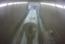 В дробеструйной камере SPK GROUP начались подготовительные работы по реставрации поезда.