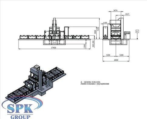 Автоматическая дробеметная линия для обработки металлических изделий SPK-15