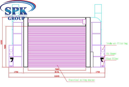 Окрасочно-сушильная камера для металлоконструкций с электроподогревом YS17.8.5.5