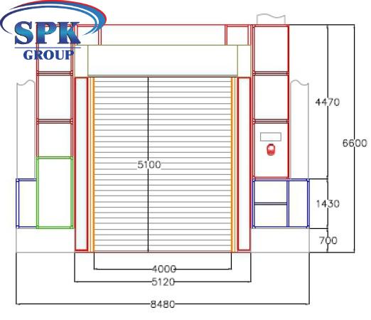Индустриальная окрасочно-сушильная камера для металлоконструкций SPK-19.5.6