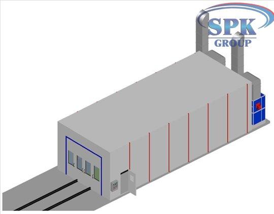 Окрасочно сушильная камера для металлоконструкций SPK 15.6.4