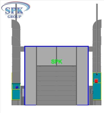 Проходная покрасочная камера для троллейбусов SPK-22.6.5