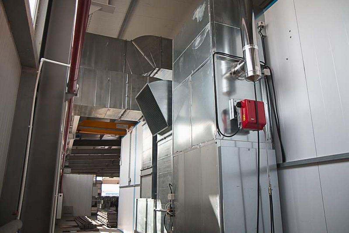 Окрасочно-сушильная камера для окраски металлоконструкций и ферм SPK 15.4.6, Астана (Казахстан)