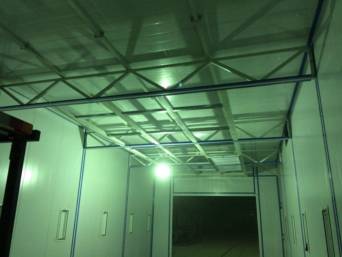 Малярная камера для металлоконструкций и ферм SPK 15.4.6. Возведение каркаса камеры. Г. Астана (Казахстан)