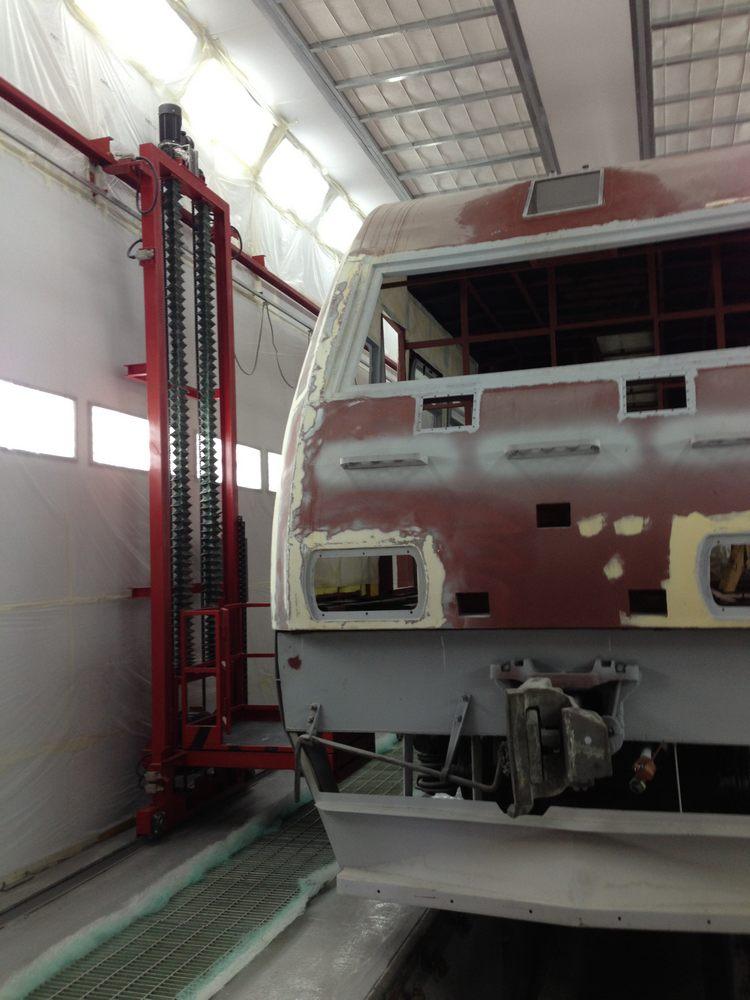 Окрасочно-сушильная камера для электровозов и локомотивов SPK