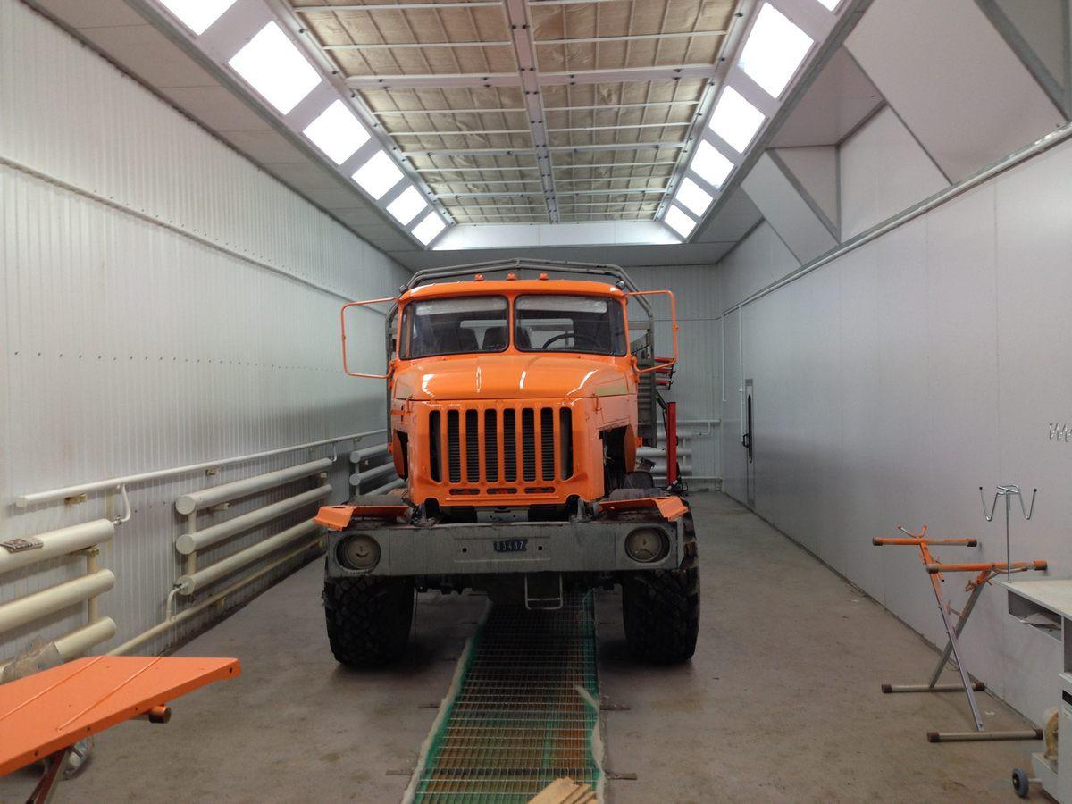 Модернизация покрасочной камеры для грузовых автомобилей Урал г. Арамиль