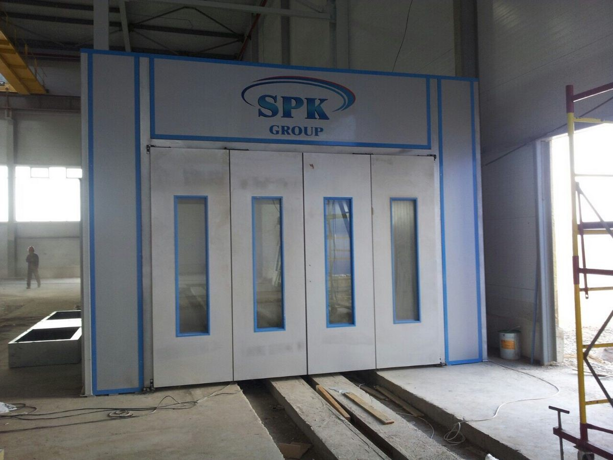 Завод по производству дизельных двигателей для локомотивов GEVO г. Астана (Казахстан). Камера для мойки дизельных двигателей.