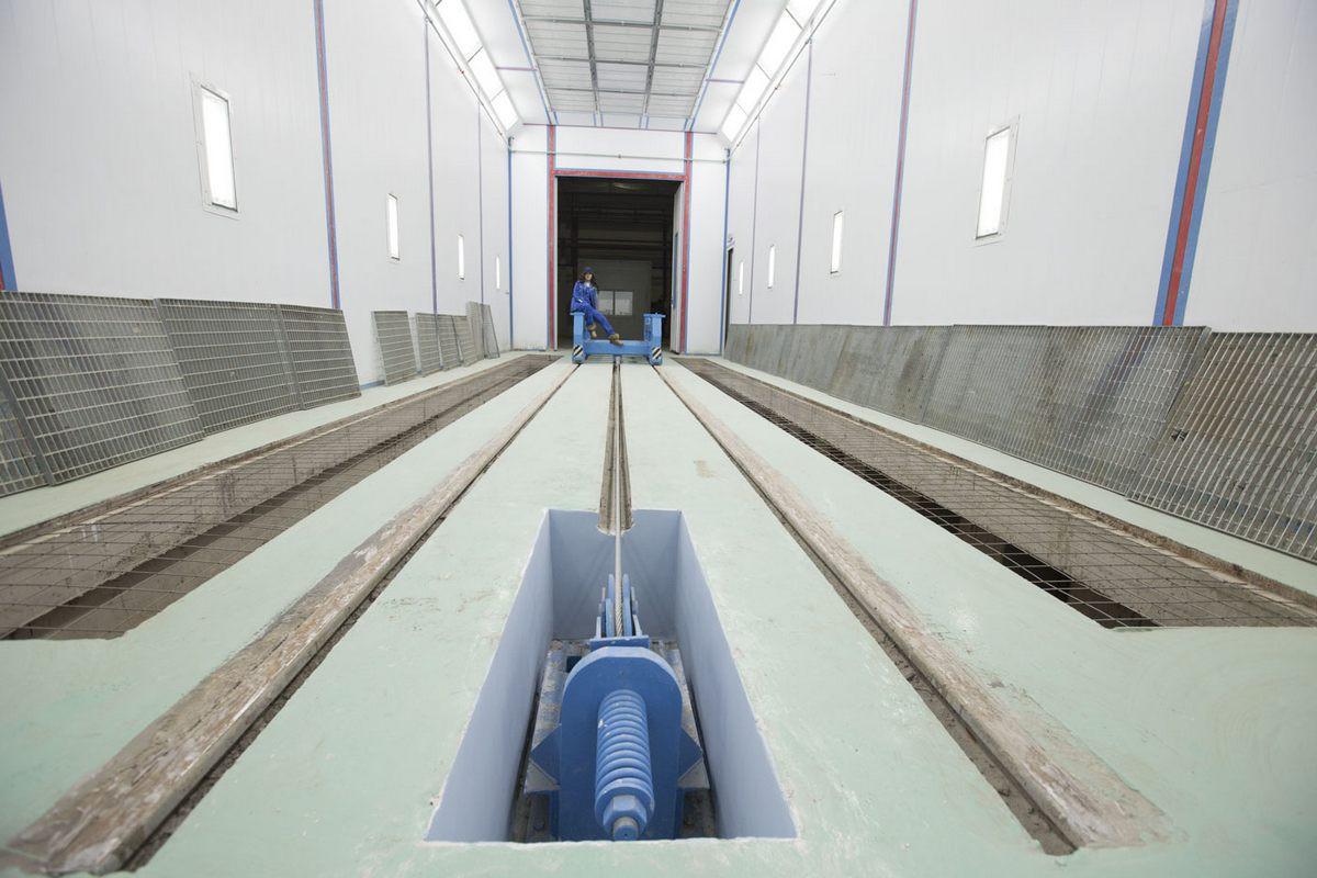 Завод по производству дизельных двигателей для локомотивов GEVO г. Астана (Казахстан). Покрасочно-сушильная камера для дизельных двигателей.