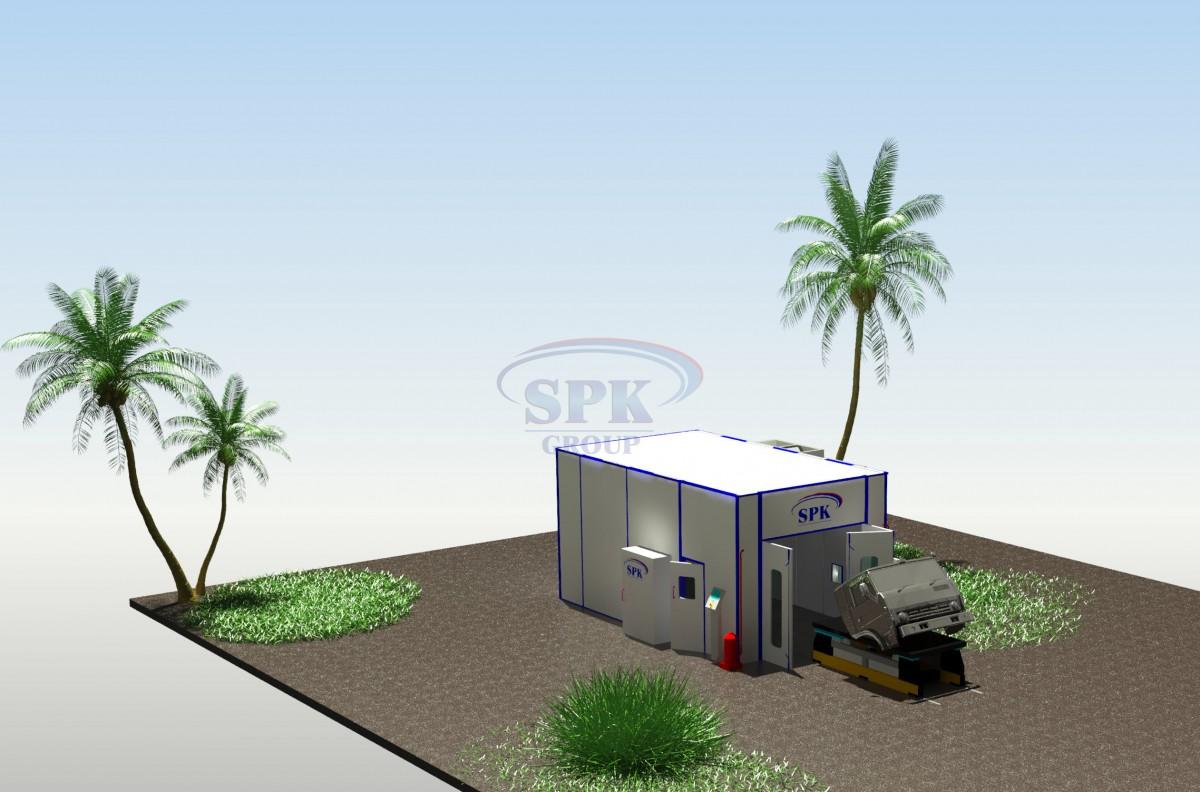 Покрасочно-сушильная камера для кузовов грузовиков SPK-7.4.3