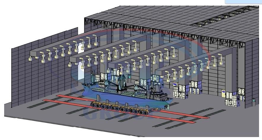 Уличный комплекс подготовки и покраски водного транспорта SPK