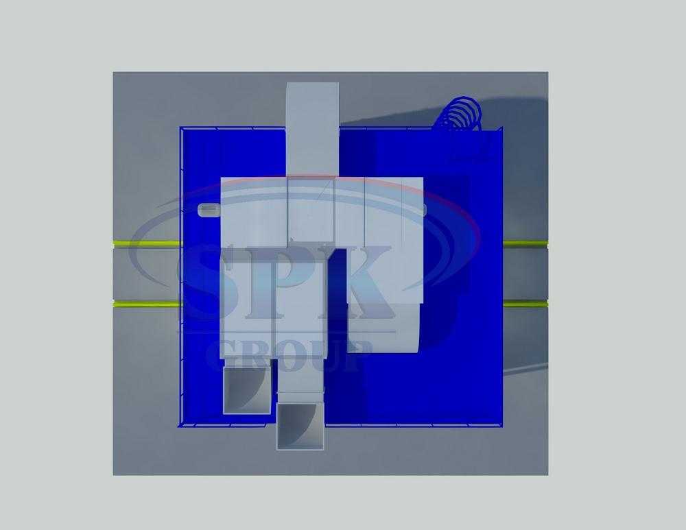 Проходная покрасочно-сушильная камера для тележек электровозов SPK-5.5.5