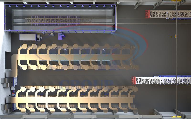 Зона открытой окраски оборудования мобильных буровых систем SPK Z-30.20.13