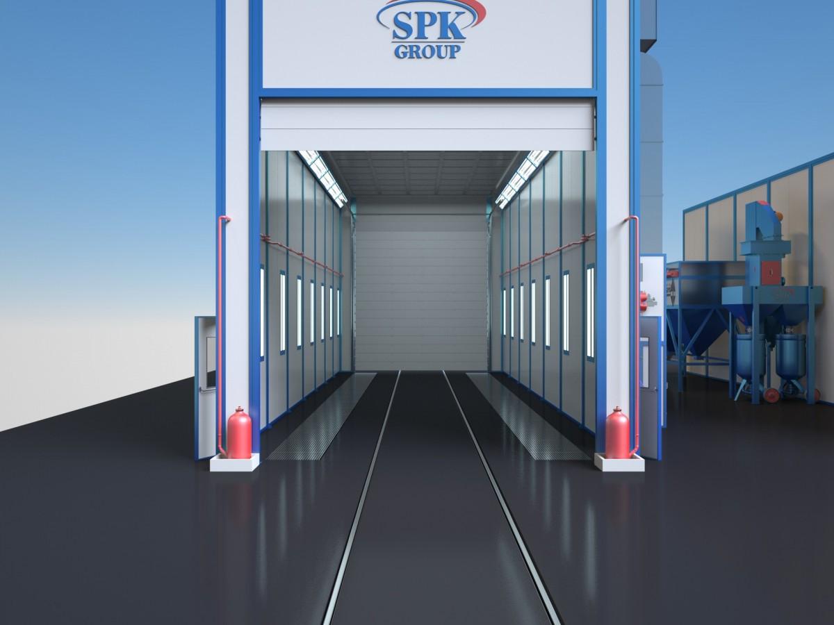 Комплекс подготовки поверхности, окраски и сушки проходного типа SPK-15.6.5