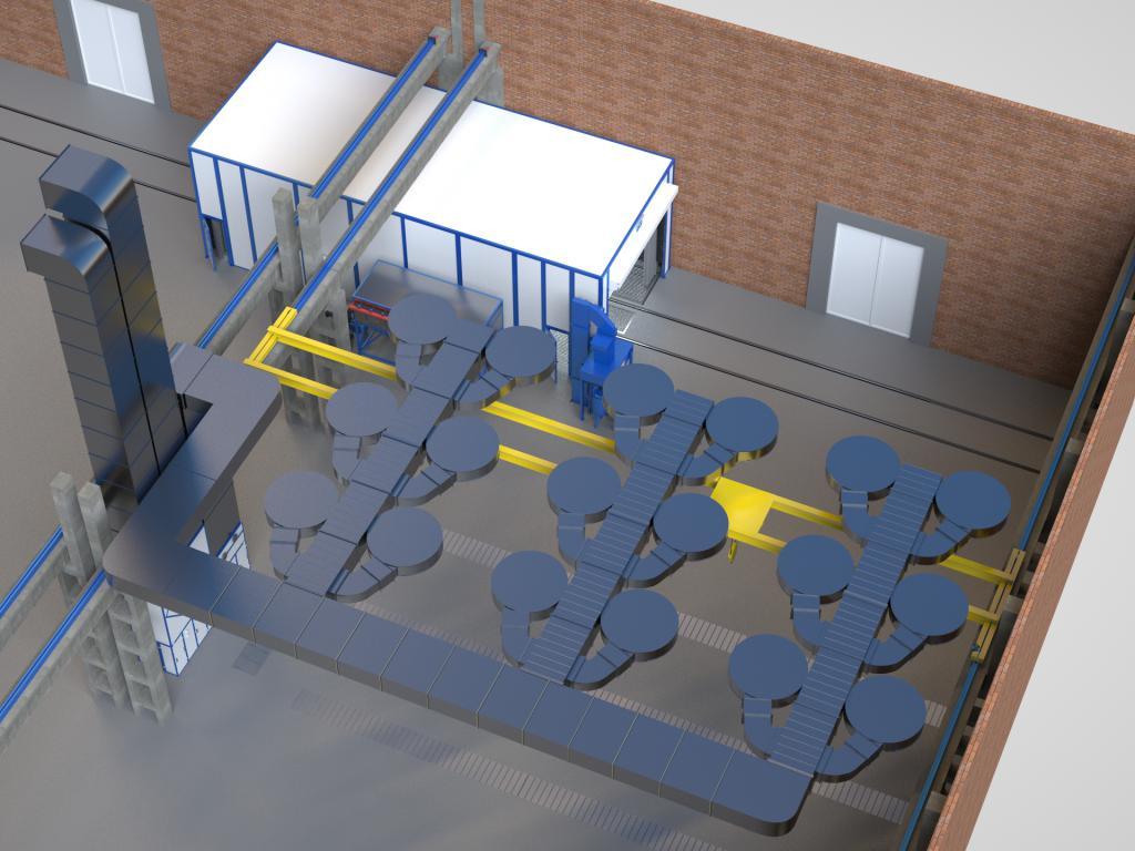 Зона открытой окраски для крупногабаритных металлоконструкций SPK Z-36.6