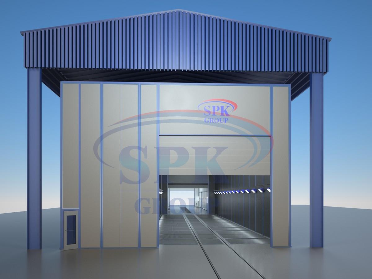 Подготовительно-окрасочный комплекс проходного типа уличного исполнения SPK-60.8.8