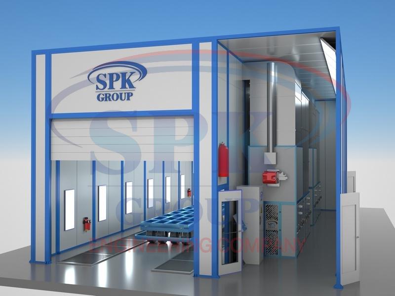 Окрасочно-сушильная камера проходного типа SPK-14.5.5