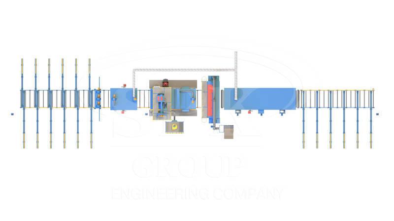 Автоматизированная линия дробеметной  очистки и консервации металлопроката  SPK D K 33.8.15-R