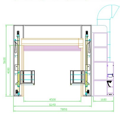 Окрасочно-сушильная камера для грузовых автомобилей YS-16.6.5