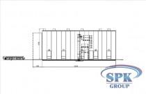 Обитаемая дробеструйная камера для металлоконструкций SPK16.6.6