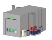 Окрасочно-сушильная камера грузового транспорта SPK 12х5х5