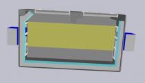 Камера окраски и сушки кабин электровозов SPK-14.8.6