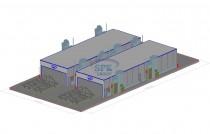 Окрасочно-сушильный комплекс для окраски металлоконструкций SPK-26x8x3