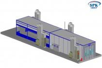 Покрасочно-сушильный комплекс для автобусов SPK-30.5.4