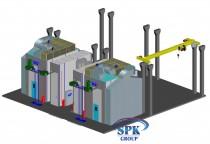 Окрасочно-сушильный комплекс для деталей авиатехники SPK-16.16.6