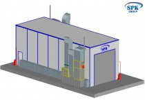Тупиковая покрасочно-сушильная камера для автобусов и грузовиков SPK-15.6.5