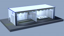 Уличный проходной комплекс для окраски металлоконструкций SPK-22.9.7