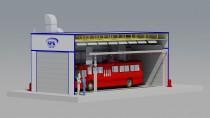 Уличная покрасочно-сушильная камера для автобусов SPK-16.5.5