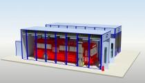 Комплекс для подготовки и окраски автобусов и троллейбусов тупикового типа SPK- 16.5.5