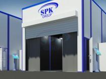 Дробеструйная камера SPK-Т 6.5.4 в составе подготовительно-покрасочного комплекса с краскоприготовительным отделением