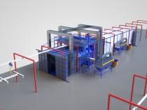 Универсальная линия для дробеметной очистки сортового проката стальных конструкций SPK С-LINE