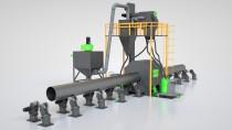 Дробеметная установка для очистки внешней поверхности труб SPK D T серии PROFI LINE