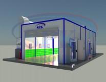 Окрасочно-сушильный комплекс проходного типа SPK-12.5.3