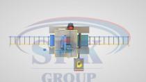 Дробемётная установка проходного типа с рольгангом для очистки металлопроката SPK D 15.4.11-R