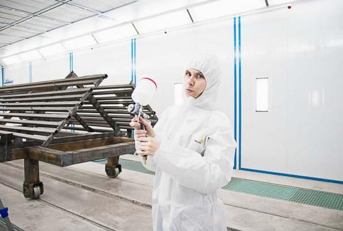 Окрасочно сушильная камера для окраски металлоконструкций и ферм SPK 15.4.6. Покраска металлоконструкций в окрасочной камере.