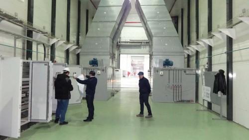 Электровозосборочный завод г. Астана (Казахстан). Камера для окраски локомотивов.