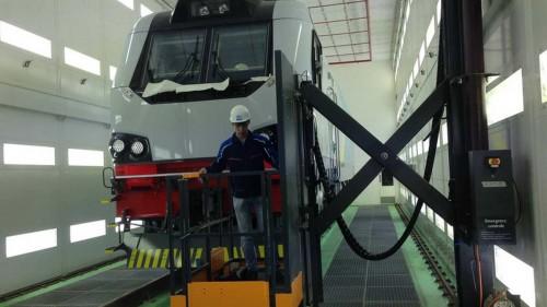 Электровозосборочный завод г. Астана (Казахстан). Покрасочно-сушильная камера для локомотивов.
