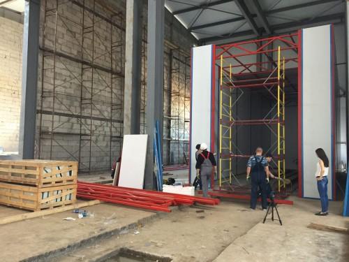 Моечная камера для дизельных двигателей. Завод по производству дизельных двигателей в Астане (Казахстан).